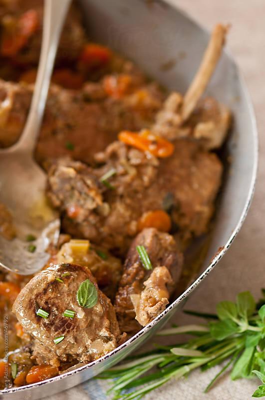 Maremma wild boar stew by Laura Adani for Stocksy United
