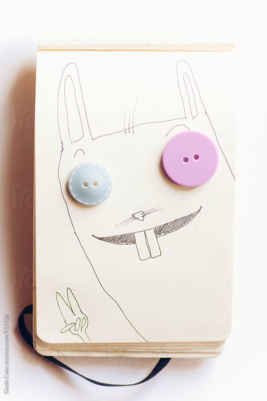 Handmade sketch interact with buttons by Giada Canu for Stocksy United