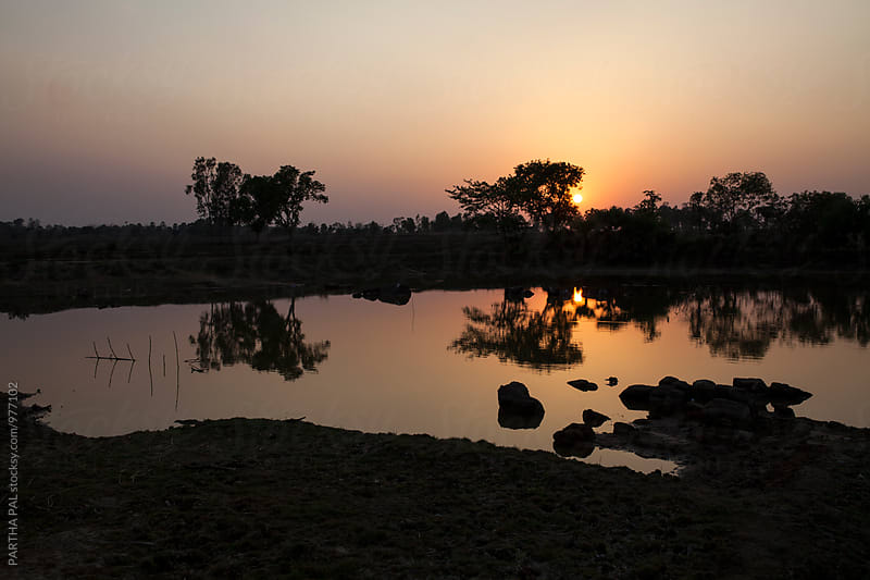 Sunset at Remote area of India by PARTHA PAL for Stocksy United