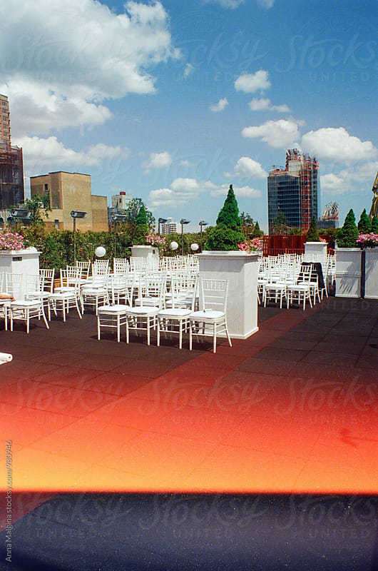 A film photo of New York rooftop by Anna Malgina for Stocksy United