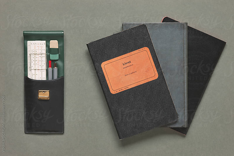 Old-fashioned Notebooks & Drawing Utensils by VISUALSPECTRUM for Stocksy United