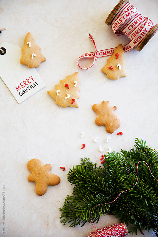 Christmas decoration - gingerbread by Orsolya Bán for Stocksy United