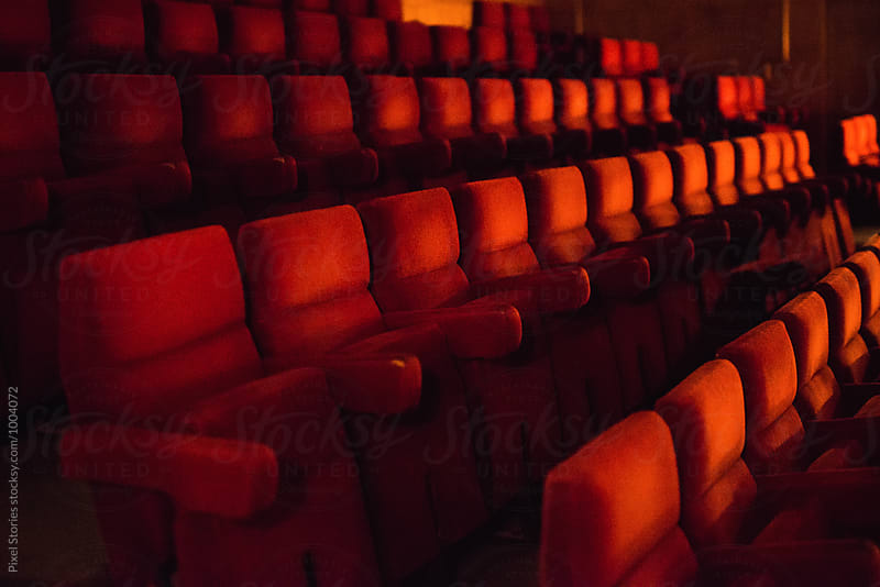 Red theatre seats by Pixel Stories for Stocksy United