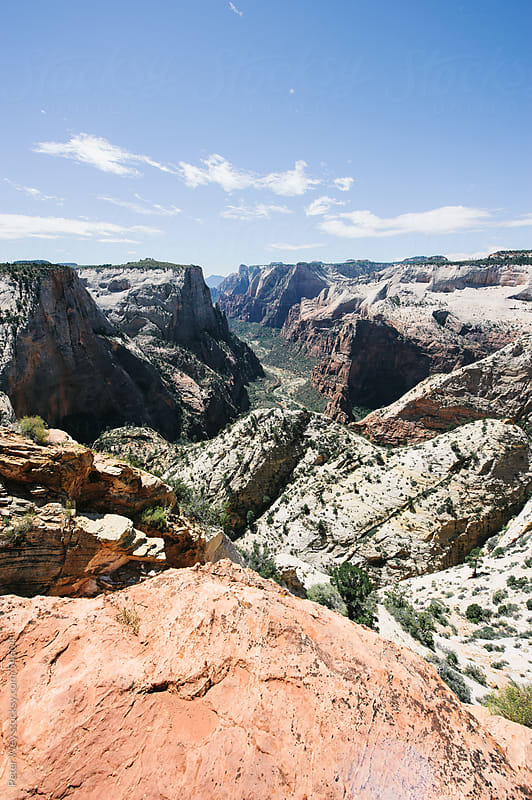 Panorama from Observation Point in Zion National Park by Peter Wey for Stocksy United
