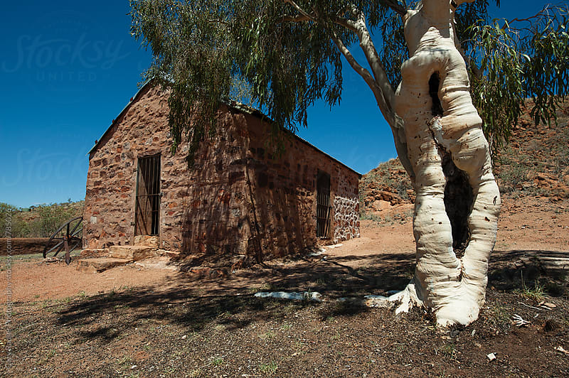 Cobblestone Building in the Australian Outback by Gary Radler Photography for Stocksy United