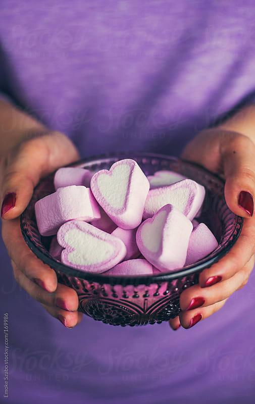 Heart marshmallow  by Emoke Szabo for Stocksy United