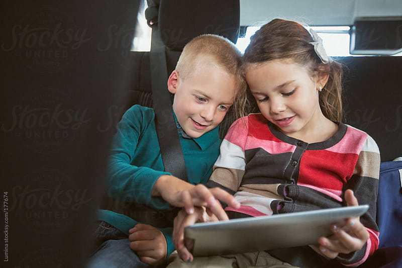 Children With a Tablet by Lumina for Stocksy United