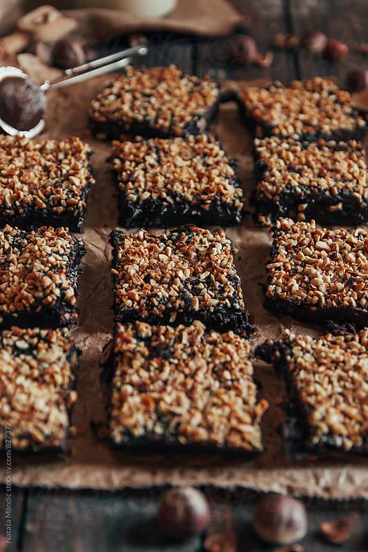Homemade fudge brownies by Nataša Mandić for Stocksy United