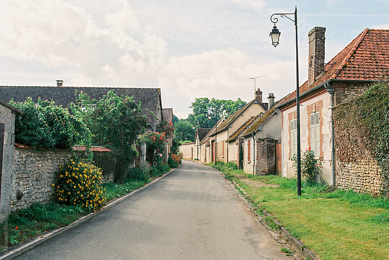 street in French village, Normandy by Léa Jones for Stocksy United