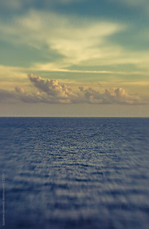 Blue Ocean Horizon with Clouds by suzanne clements for Stocksy United