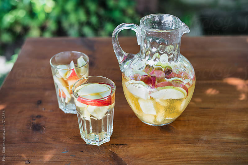 Homemade white sangria by Pixel Stories for Stocksy United
