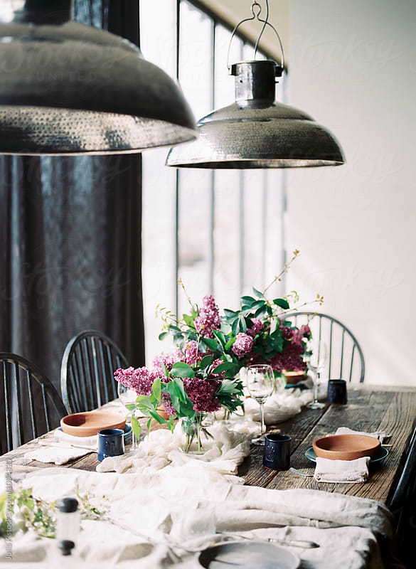 Table arrangement by Julia Kaptelova for Stocksy United