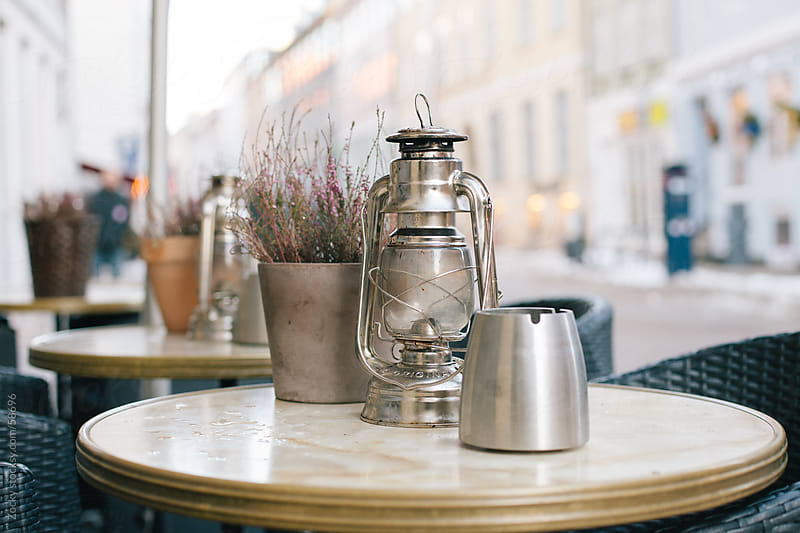 The outdoor Lamp of Cafe by Zocky for Stocksy United