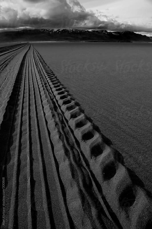 Road in the sand by Alari Kivisaar for Stocksy United