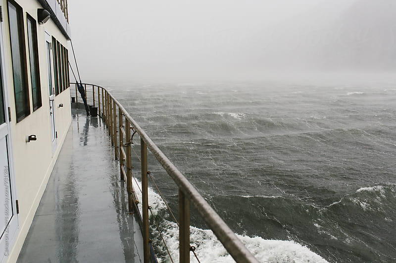 stormy seas from cruise boat by Cameron Zegers for Stocksy United