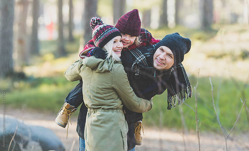 family outdoor fun  by Andreas Gradin for Stocksy United