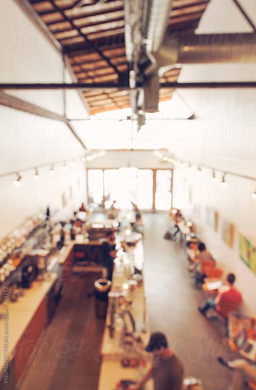 Coffee Shop Defocused by VISUALSPECTRUM for Stocksy United