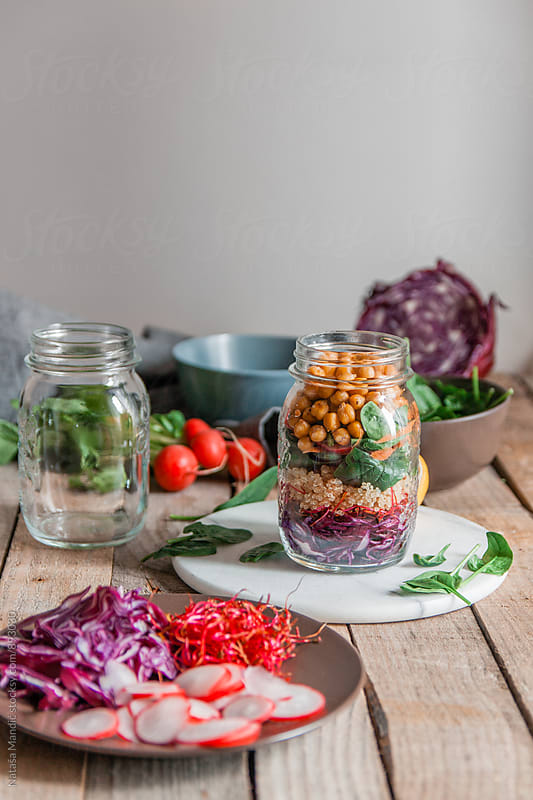Jar Salad by Nataša Mandić for Stocksy United