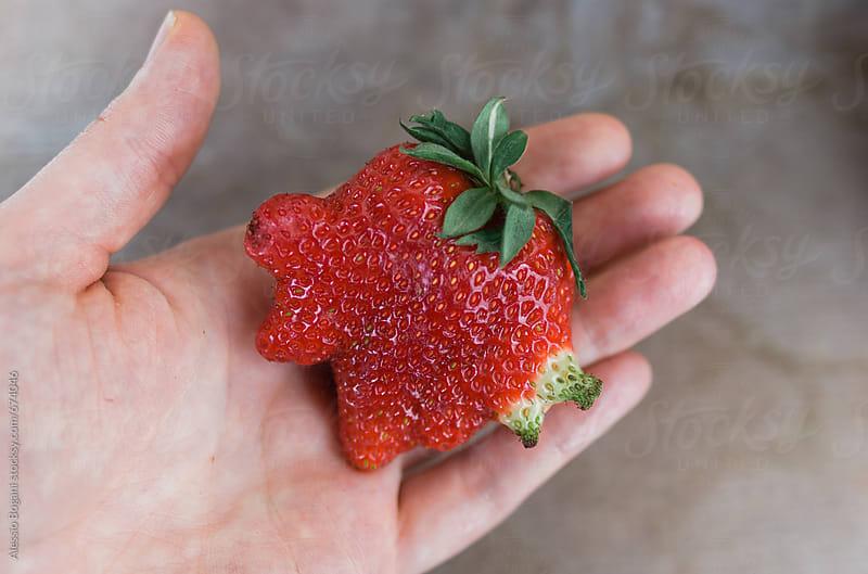 Mutant strawberry by Alessio Bogani for Stocksy United