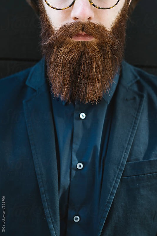 Man with long beard by GIC for Stocksy United