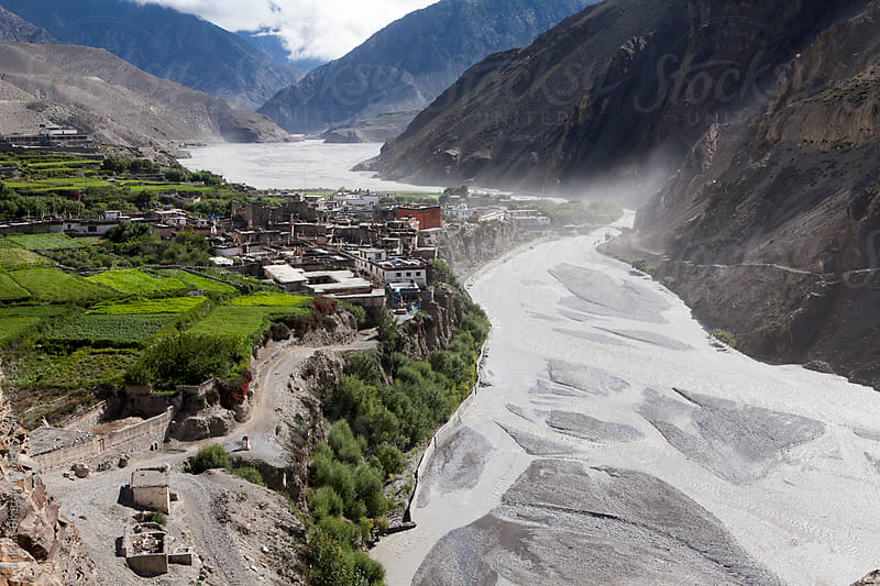 Small village of Kagbeni on the river bank of Kali Gandaki. by Shikhar Bhattarai for Stocksy United