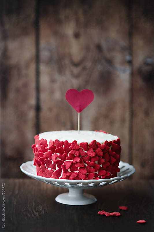 Valentines cake by Ruth Black for Stocksy United