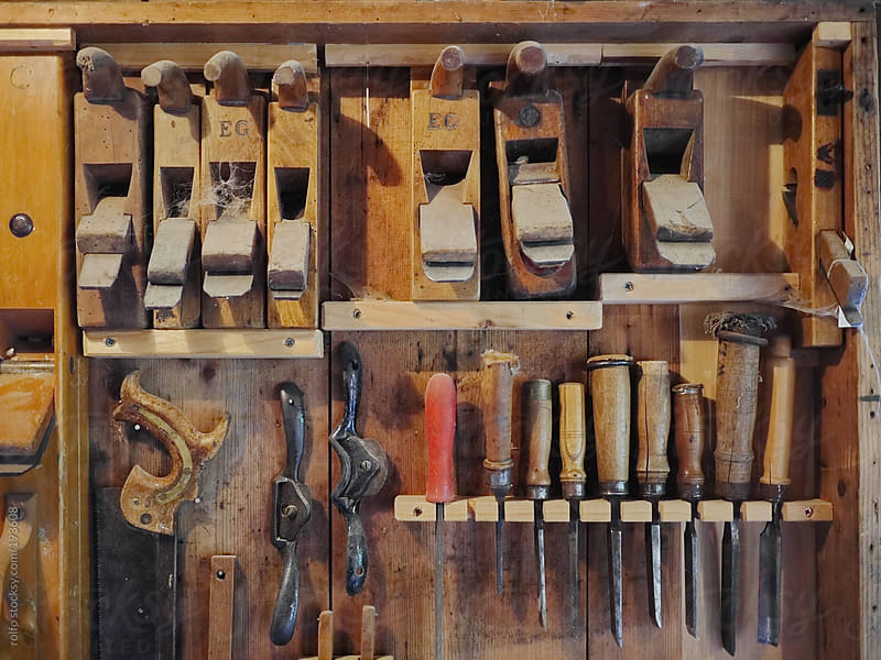 Neatly arranged carpenters tools by rolfo for Stocksy United