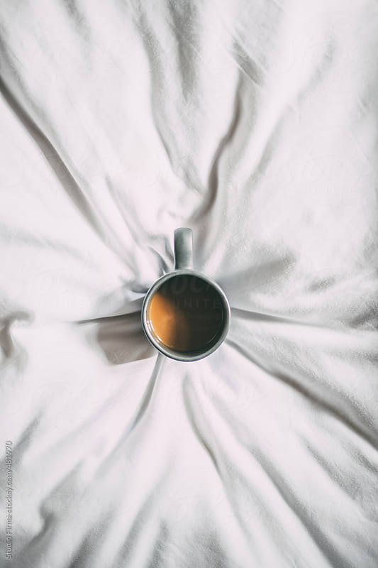 Hot Coffee on Bed. by Studio Firma for Stocksy United