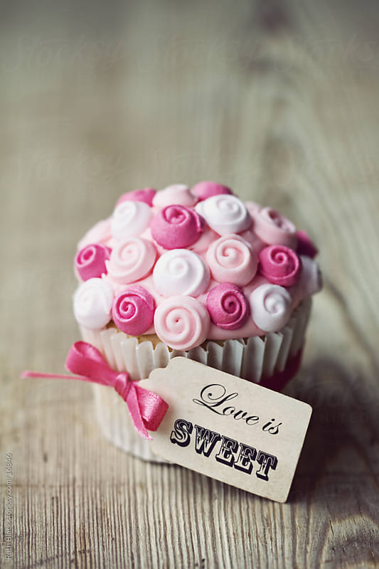 Cupcake gift for Valentines Day by Ruth Black for Stocksy United