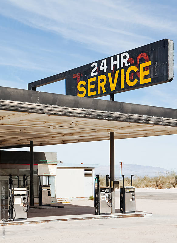 Abandoned gas station in Mojave Desert, near Surprise Valley, CA by Paul Edmondson for Stocksy United
