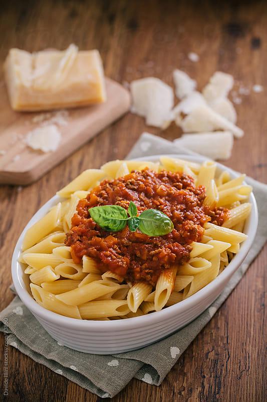 Pasta Bolognese by Davide Illini for Stocksy United