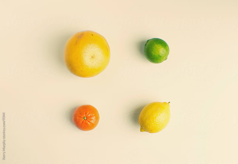 Fresh citrus fruit arrangement by Kerry Murphy for Stocksy United