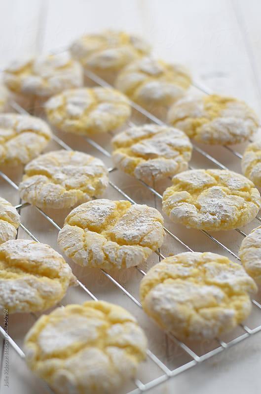 Lemon Crinkle Cookies by Julie Rideout for Stocksy United