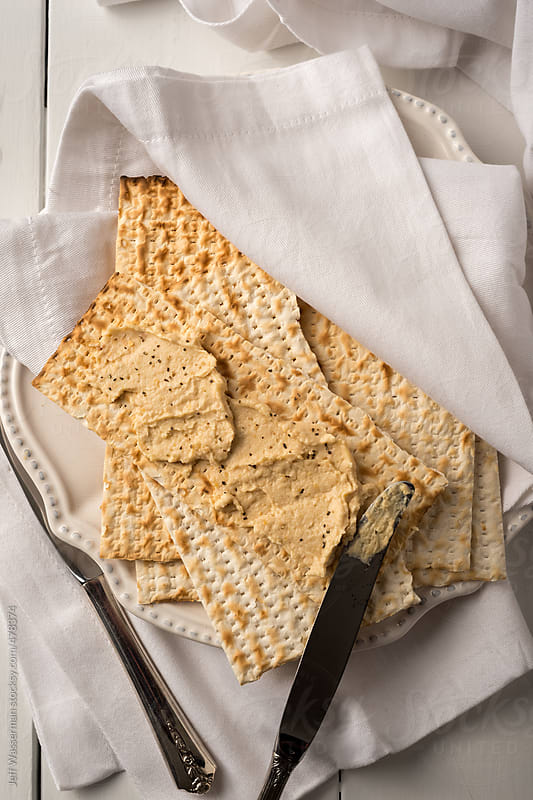 Matzah with Vegetable Spread for Passover by Jeff Wasserman for Stocksy United