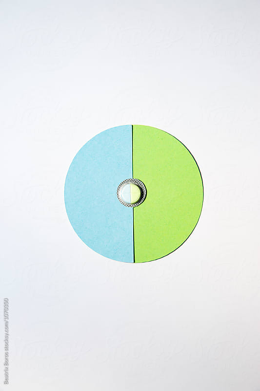 Minimalist concept of medicines in 2 semicircles by Beatrix Boros for Stocksy United