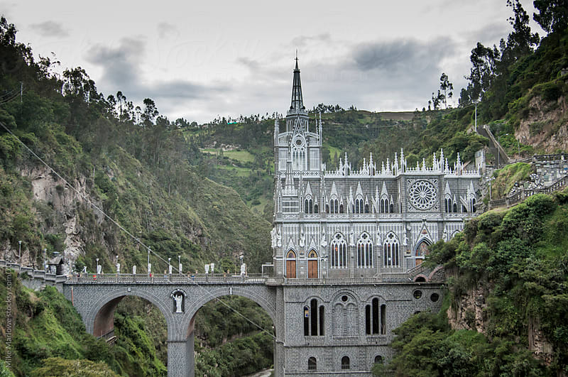 Eloborate church built over a valley. by Mike Marlowe for Stocksy United