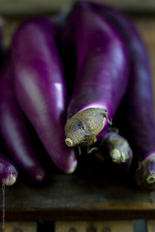 Eggplants  by Noemi Hauser for Stocksy United
