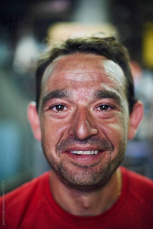Welder Portrait by Jose Coello for Stocksy United