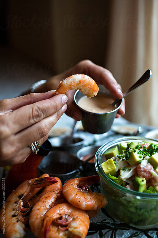 Shellfish Platter with Shrimp by Andrew Cebulka for Stocksy United