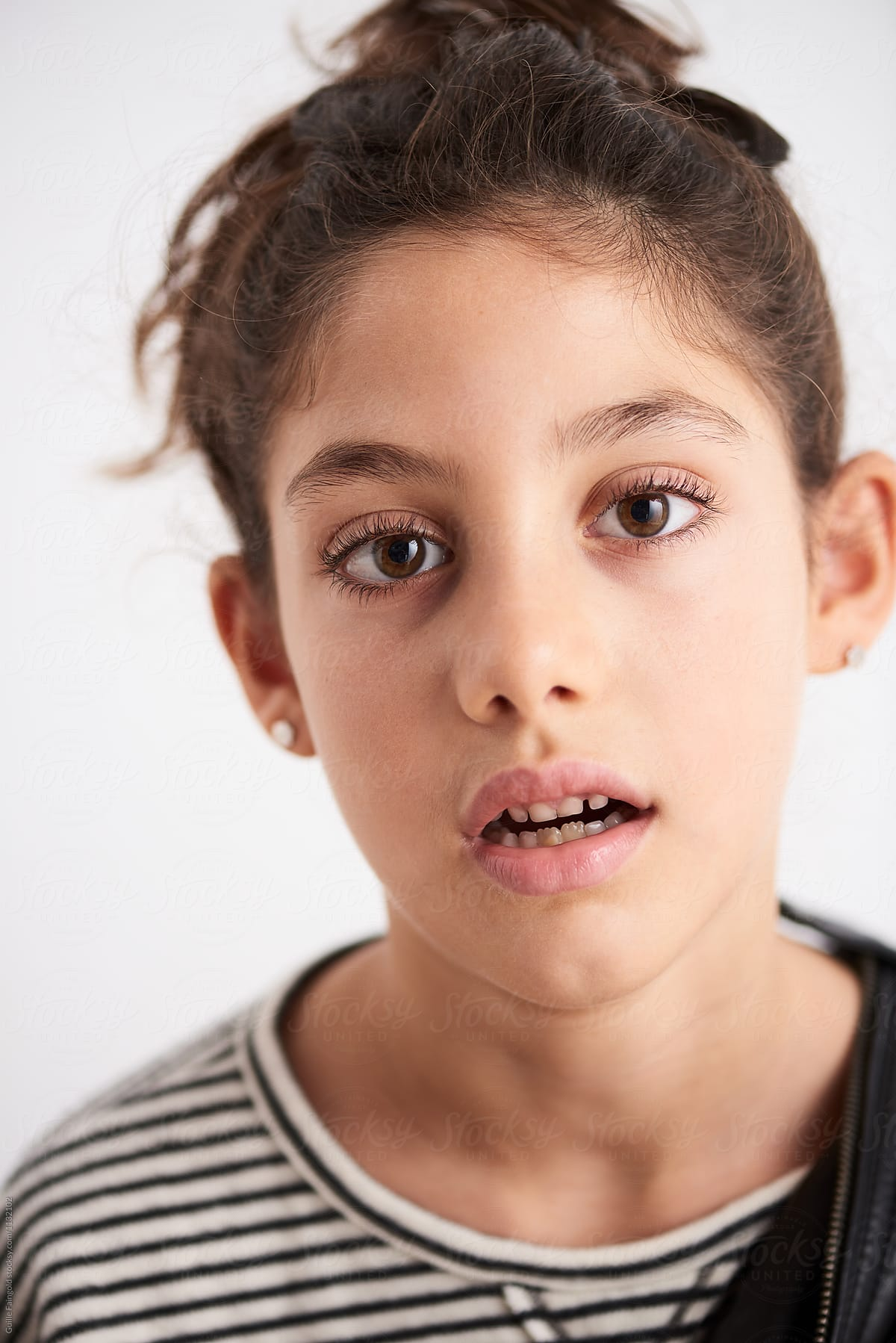 Girl open mouth teen Teen girl's