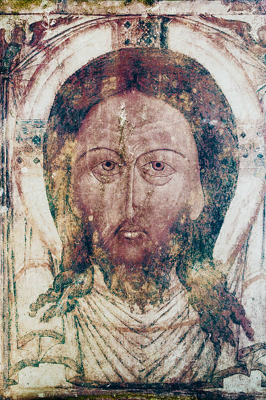 Shabby Jesus Fresco by VISUALSPECTRUM for Stocksy United