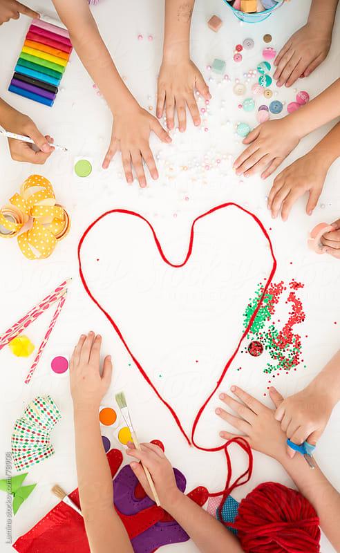 Kindergarten Woolen Thread Heart by Lumina for Stocksy United