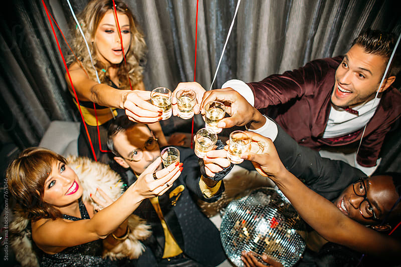 Happy People. New Year's Party by Studio Firma for Stocksy United