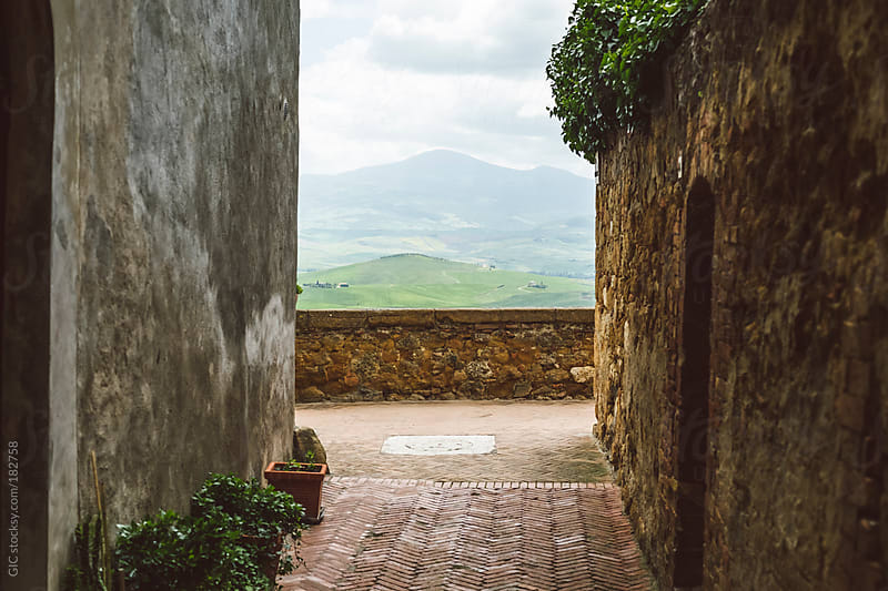Street of a Traditional Town in Tuscany by GIC for Stocksy United