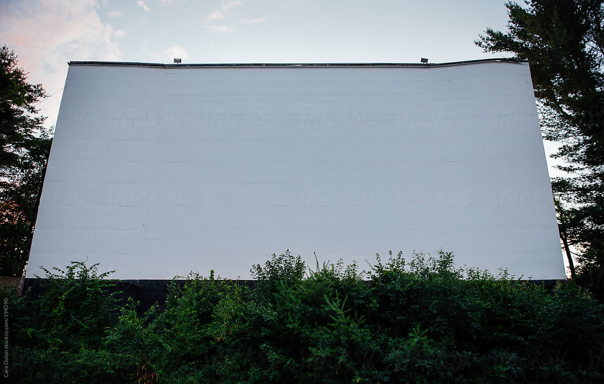 Blank Screen At Dusk At A Drive In Movie Theater By Cara Dolan Drive In Summer Stocksy United