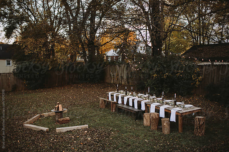 Backyard Dinner by Brad and Jen Butcher for Stocksy United