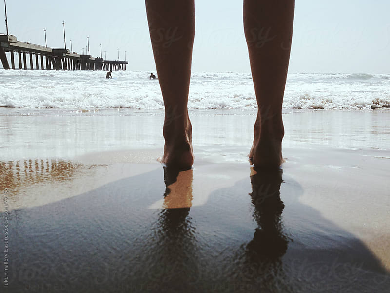 Feet in the Sand by luke + mallory leasure for Stocksy United