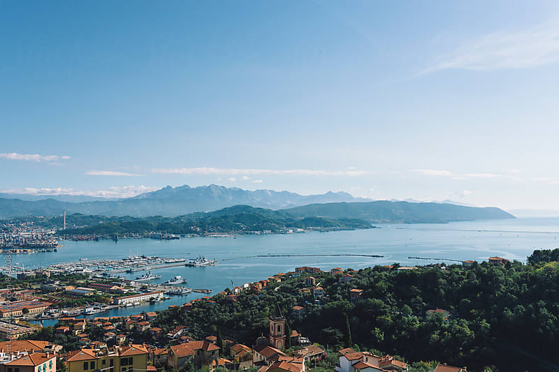 Amazing view on Ligurian sea in Tuscany by Trent Lanz for Stocksy United