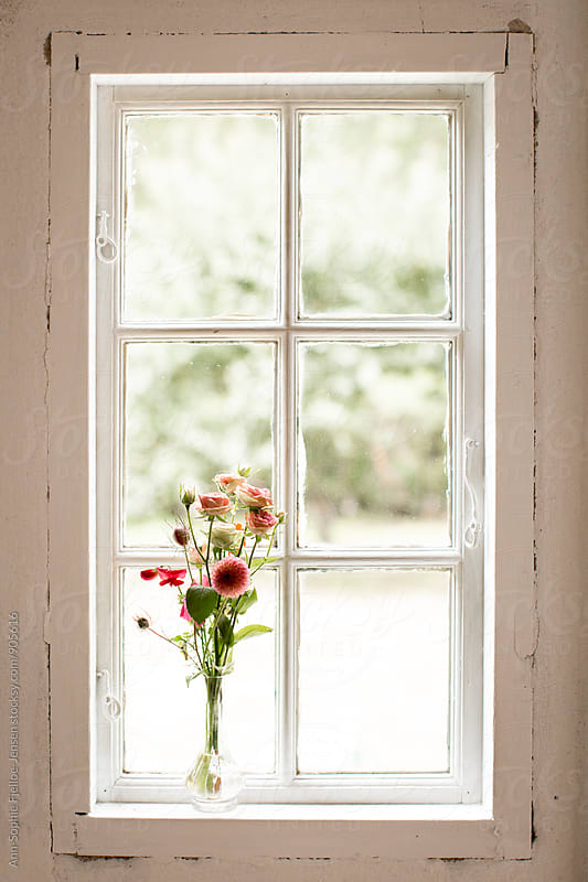 Bouquet in vase by Ann-Sophie Fjelloe-Jensen for Stocksy United