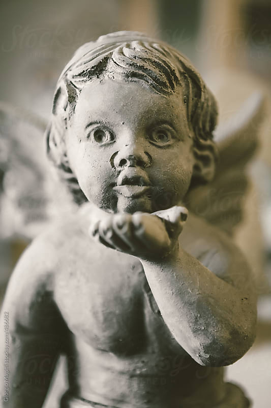Fresh Terracotta Statue of a Little Angel by Giorgio Magini for Stocksy United